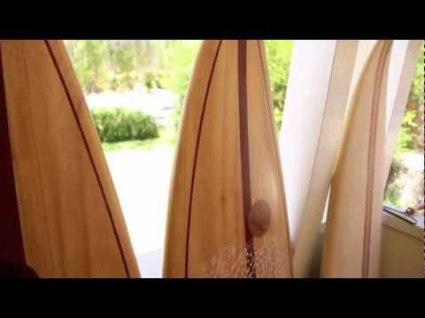 Hollow Wooden Surfboard Construction - Lightweight Shortboards