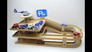 Парковка для машинок из картона своими руками