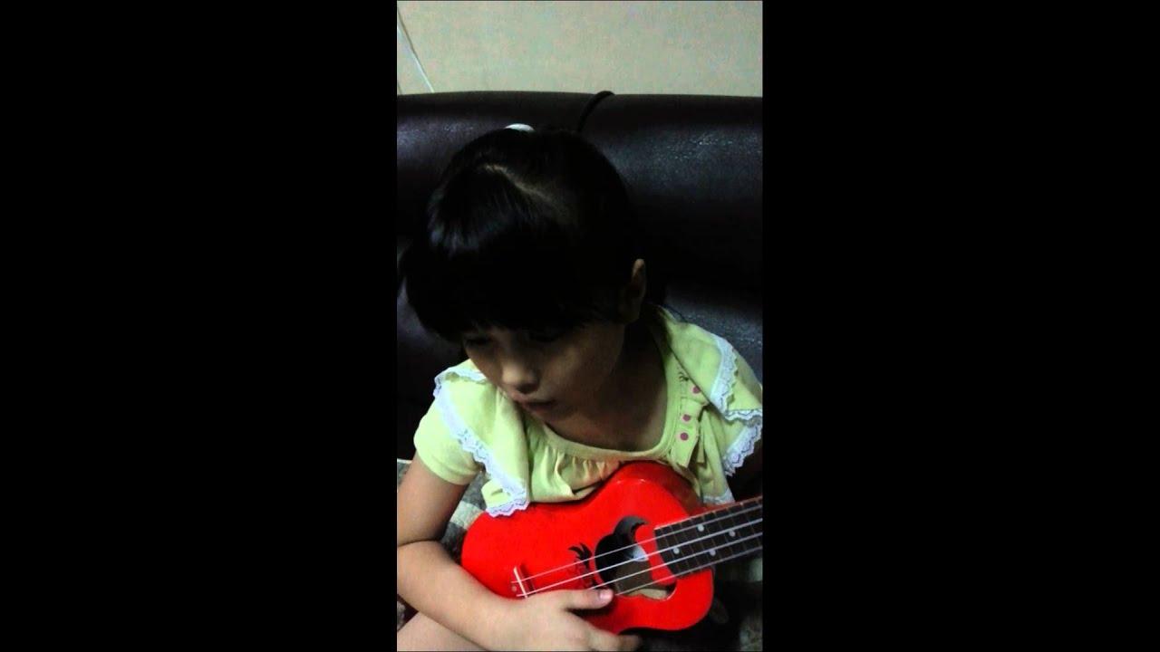 烏克麗麗-對面的女孩看過來-林育慈(練習篇) - YouTube