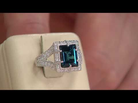 Judith Ripka Sterling 2.80 ct London Blue Topaz Ring on QVC