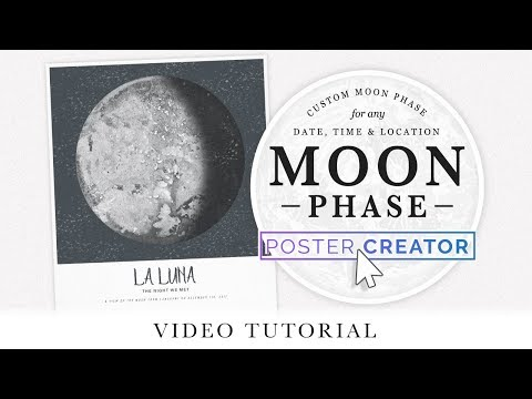 Moon Phase Poster Tutorial In Photoshop