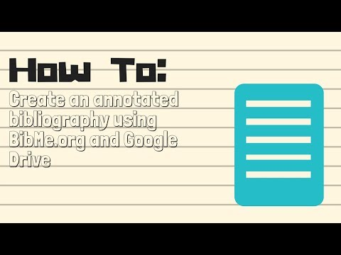 Create Your Annotated Bibliography Using BibMe