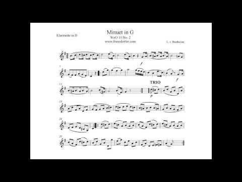Beethoven Menuett in G Dur