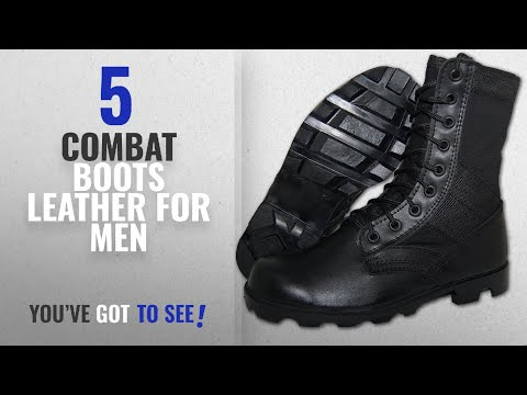 Top 10 Combat Boots Leather [ Winter 2018 ]: G.I. COMBAT Jungle Boot, Men in Black Size 10