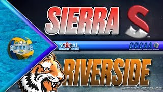 2017 CCCAA Water Polo Women's Semifinals: Sierra vs Riverside
