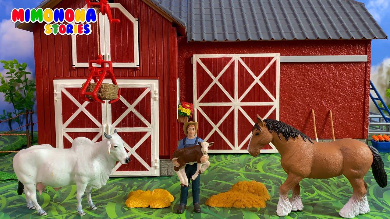 La Granja y los animales 🐴🐮 Vaca Caballo Toro Gallina Burro Ternero Potrillo ✨ Mimonona Stories