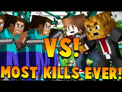 MOST KILLS EVER 100 Fans | Minecraft - Modded Fan Battle