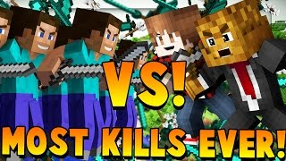 MOST KILLS EVER - Minecraft Fan Battle vs 100 Fans
