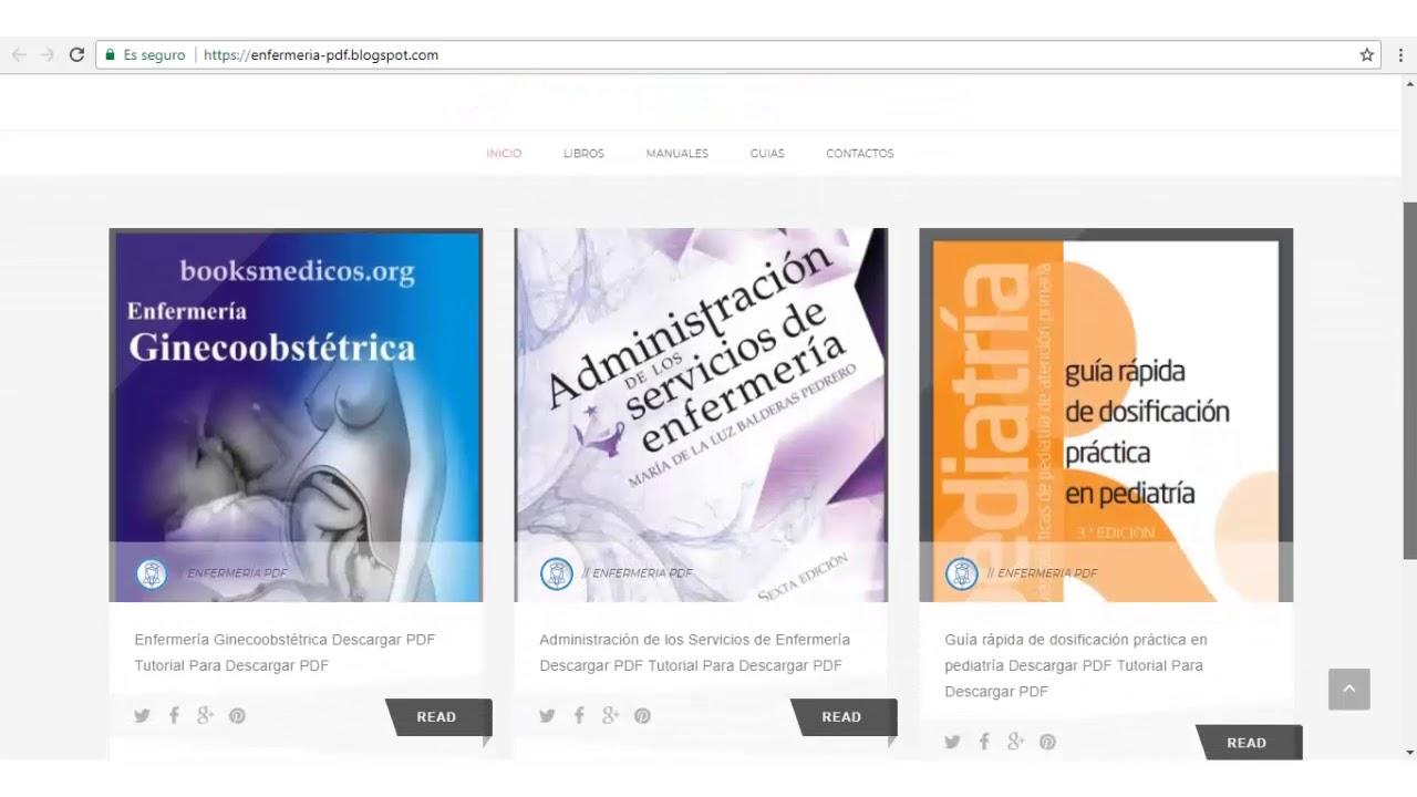 Como Descargar libros GRATIS en Enfermeria PDF - YouTube