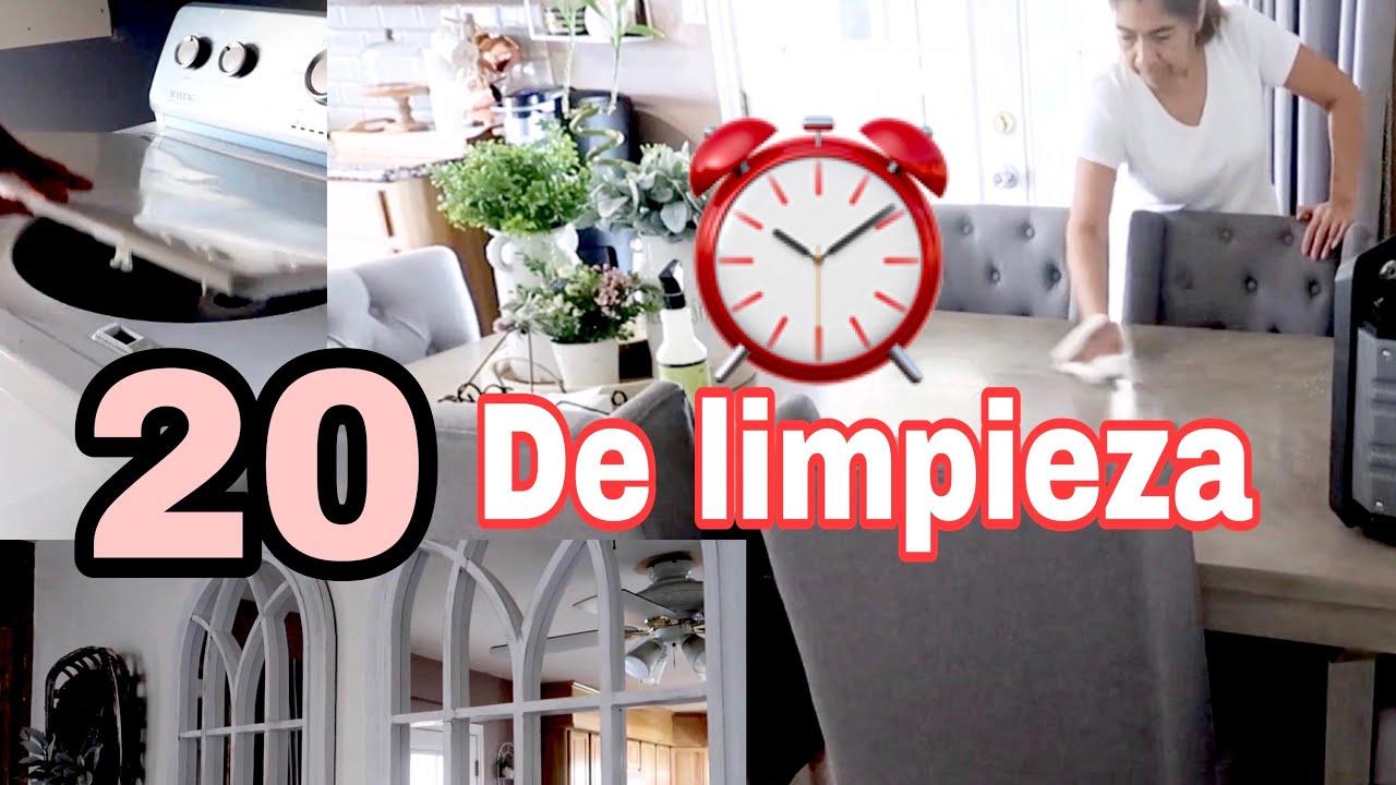 20 minutos de limpieza habitación y cocina - YouTube