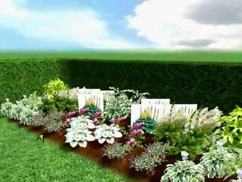Free Garden Plans Shady Garden Planting Border Plan Garden Design
