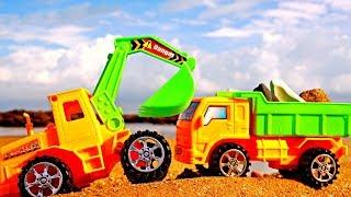 Spielspaß am Meer 🌊 #Spielzeugautos 🚚 sammeln am Strand schöne Steine 🐚 Video für #Kleinkinder