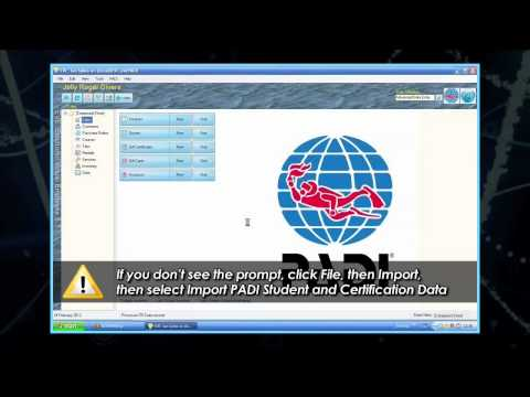EVE Installation Tutorials Seven Steps   6. Importing Your PADI Certification Data Into EVE