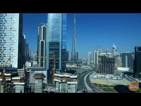 Dubai Business Bay Construction Time Lapse