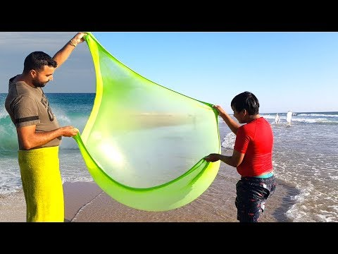 On a fait du slime à la plage, slime at the beach, adel sami les boys tv