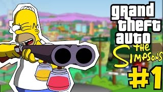GTA:SIMPSONS - #1 - HOMER(The Simpsons Hit and Run)