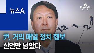 尹, 거의 매일 정치 행보…지지율 관리하며 정치인 접촉…