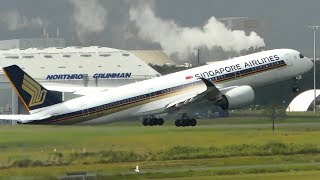WET WEATHER | Planes Taking off on a WET RUNWAY | Brisbane Airport Plane Spotting