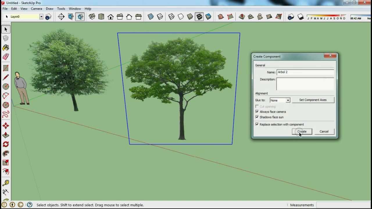 como hacer arboles a partir de una imagen en sketchup tutorial sketchup modelarq youtube. Black Bedroom Furniture Sets. Home Design Ideas