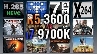 R5 3600 vs i7 9700k - RTX 2080 - Benchmarks Comparison