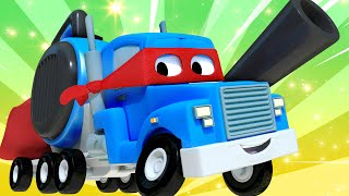 The summer train  - Carl the Super Truck - Car City ! Cars and Trucks Cartoon for kids