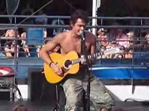 John Mayer Shirtless Slow Dancing In A Burning Room