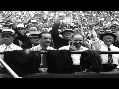 Baseball milestones of the 1938 season in the United States. HD Stock Footage