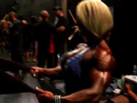 FABIOLA BOULANGER PUMPING UP  FOR HER IFBB PRO CARD!