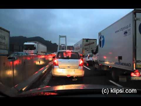 Genova traffic jam