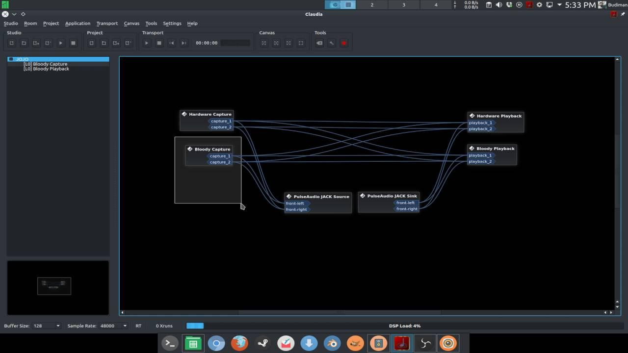 PulseAudio and JACK audio setup in Manjaro Linux - Audio