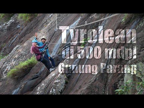 Tyrolean di 500 mdpl Gunung Parang