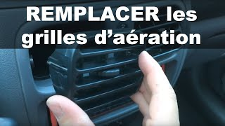 Remplacer les grilles d'aération/ventilation - Renault Clio 2