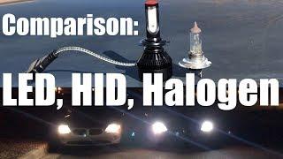LED Bulb Upgrade vs Halogen vs HID - NAO Headlight Review