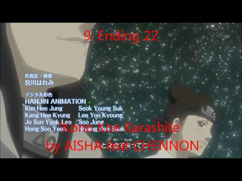 Top 15 Naruto Shippuden endings