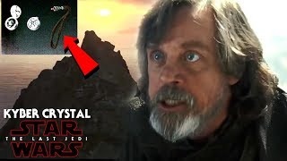 Star Wars The Last Jedi - Luke's Red Kyber Crystal Revealed! First Look