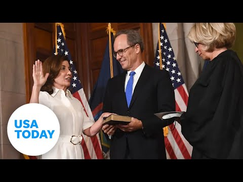 Kathy Hochul has made history as the first female governor of New York | USA TODAY