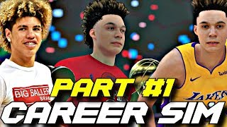 SIMULATING LAMELO BALL'S NBA CAREER IN NBA2K18!! PART 1!! BETTER THAN LONZO?!?