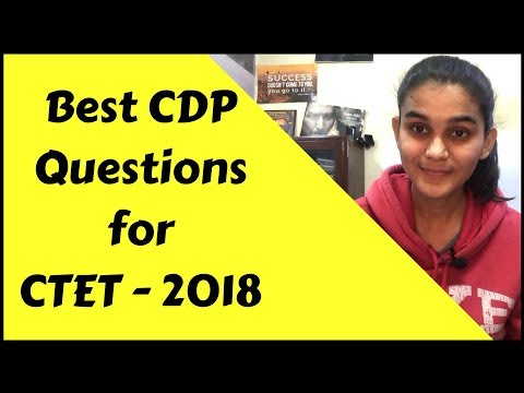 Best CDP Questions for CTET-2018