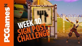 Fortnite challenge guide: search the treasure map signpost found in Junk Junction