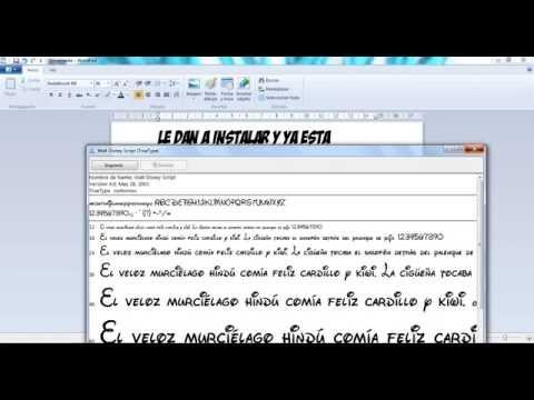 COMO DESCARGAR FUNTE DE LETRAS DE DISNEY