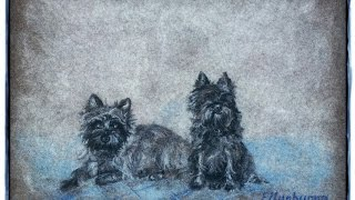 Custom Pet Portrait / dog painting / miniature dog painting / Dog Art from your photos by ELLUNHUOPA
