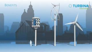 Немецкие  вертикальные ветровые генераторы Turbina Energy