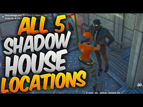 FIND SHADOW SAFE HOUSES - All 5 Shadow Safe House Locations In Fortnite!