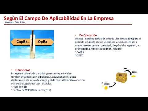 WEBINAR: Tipos de presupuesto, Gestión y Control del Capex y Opex