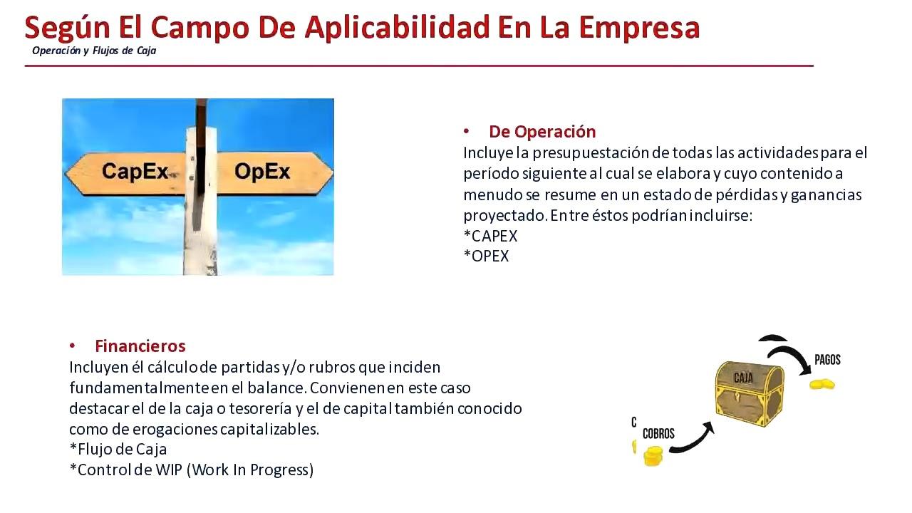 WEBINAR: Tipos de presupuesto, Gestión y Control del Capex y Opex ...