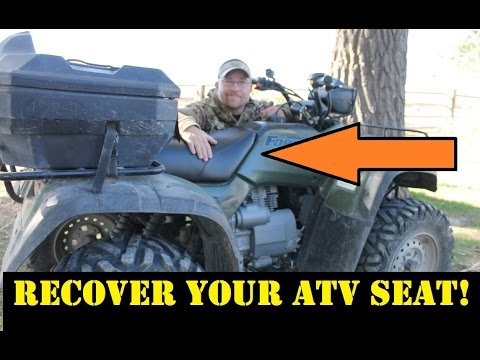 How to Recover/Reupholster Your ATV or Motorcycle Seat - WCW