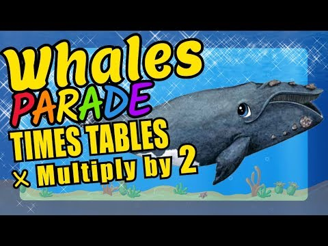 Whales Teaching Multiplication Times Tables x2 Educational Math Video for Kids