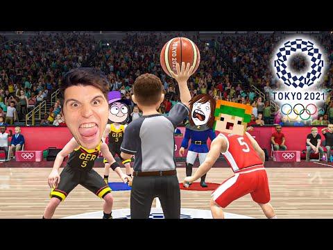 Vier YOUTUBER spielen Basketball bei Olympia 2021 in Tokyo
