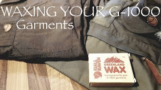 Waxing your Fjallraven G-1000 Garments (AND other cotton outdoor gear) | Fjallraven Greenland Wax
