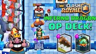 clash royale log inferno dragon deck  lavahound counter